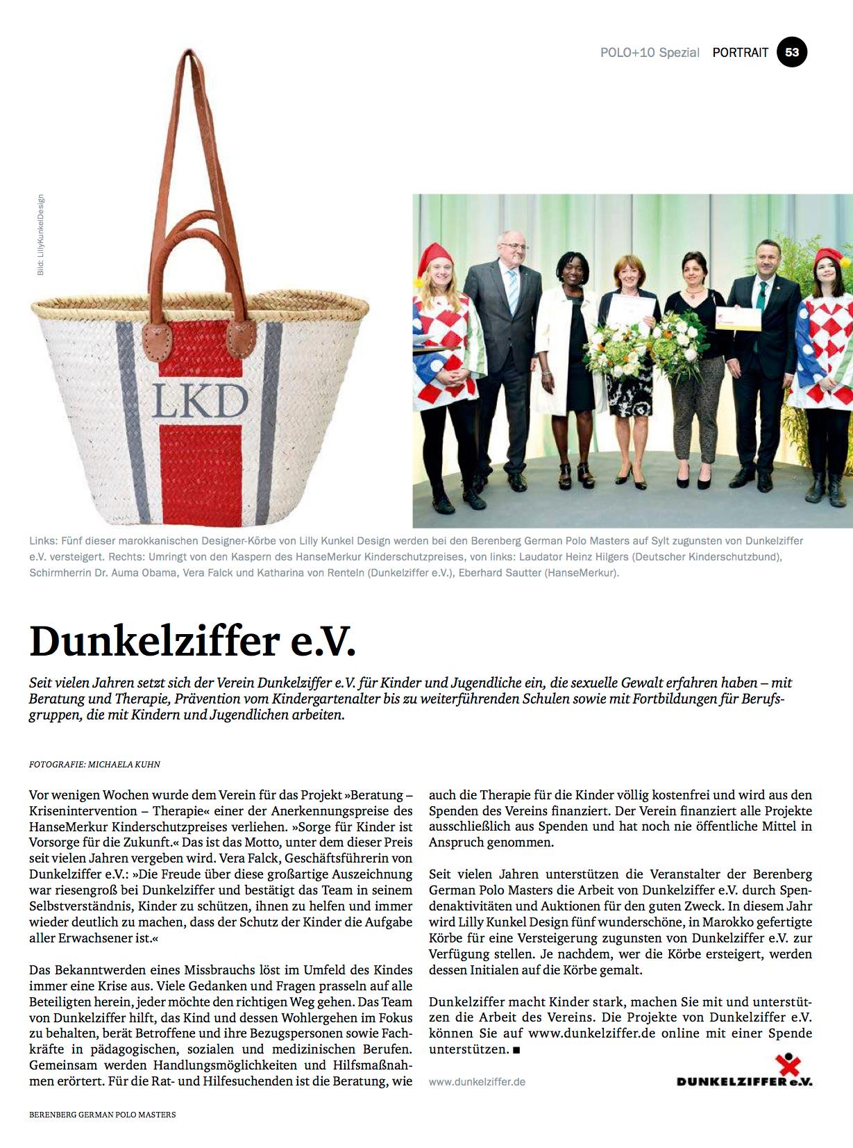Bericht über LillyKunkelDesign anlässlich des Berenberg German Polo Masters 2016